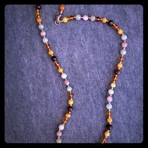 Sterling multi glass beads